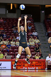 06 SEP 2008: Jillian Mitchell sets up the ball for a striker during a game between the Broncos of Western Michigan and the Redbirds of Illinois State. The Redbird Classic is held on Doug Collins Court in Redbird Arena located on the campus of Illinois State University in Normal IL.