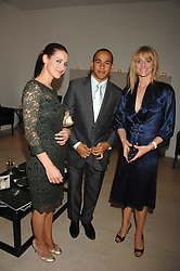 Left to right, TV presenter KIRSTY GALLAGHER, racing driver LEWIS HAMILTON and TV presenter GABBY LOGAN at an evening with racing driver Lewis Hamilton held at The Hempel Hotel, 31-35 Craven Hill Gardens, London W2 on 4th July 2007.<br /><br />NON EXCLUSIVE - WORLD RIGHTS