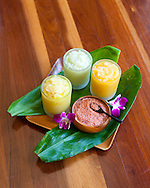 The Kahala Resort and Hotel, located in Honolulu on the souths side of Diamond Head, offers luxurious accommodations and is the only hotel in Oahu with a dolphin program.  Sugar and seaweed scrubs are offered at the Kahala Spa as part of the Ho'omaka foot ritual.