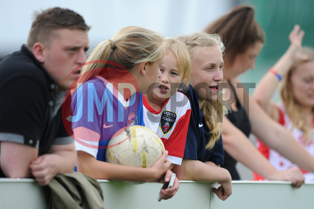 Bristol Academy fans - Photo mandatory by-line: Dougie Allward/JMP - Mobile: 07966 386802 - 28/09/2014 - SPORT - Women's Football - Bristol - SGS Wise Campus - Bristol Academy Women's v Manchester City Women's - Women's Super League