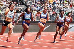 top sprinters race women 200 meters at 2019 The Prefontaine Classic Track & Field<br /> IAAF Diamond League