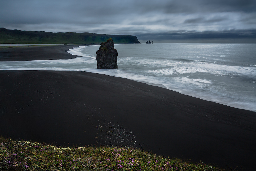 Grey stormy skies only add to Iceland's beauty near the small southern peninsula of Dyrhólaey.