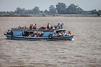 Local river life along the Irrawaddy River near Mandalay, Burma.