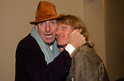 Richard Strange and Grayson Perry, State of Play opening,  Serpentine Gallery, 2 February 2004. © Copyright Photograph by Dafydd Jones 66 Stockwell Park Rd. London SW9 0DA Tel 020 7733 0108 www.dafjones.com