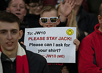 Football - 2017 / 2018 UEFA Europa League - Semi-Final, First Leg: Arsenal vs. Atletico Madrid<br /> <br /> An Arsenal fan begs Jack Wilshere (Arsenal FC) to stay and requests his shirt at The Emirates.<br /> <br /> COLORSPORT/DANIEL BEARHAM