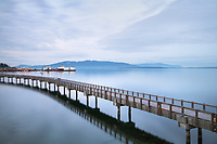 Boulevard Park Boardwalk, Taylor Dock, on Bellingham Bay, Bellingham Washington
