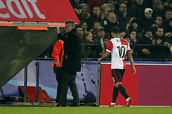 (l-r) Tonny Vilhena of Feyenoord during the UEFA Champions League group F match between Feyenoord Rotterdam and SSC Napoli at the Kuip on December 06, 2017 in Rotterdam, The Netherlands
