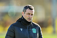 Hibernian FC manager, Jack Ross during the training session for Hibernian FC at the Hibs Training Centre, Ormiston, Scotland on 26 February 2021, ahead of the SPFL Premiership match against Motherwell.
