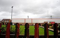 General views outside the stadium - Mandatory by-line: Nizaam Jones/JMP - 24/10/2020 - FOOTBALL - Jonny-Rocks Stadium - Cheltenham, England - Cheltenham Town v Mansfield Town - Sky Bet League Two
