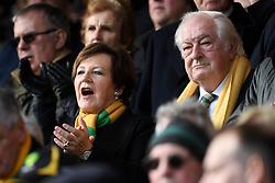 Norwich City's joint majority shareholder Delia Smith, alongside her husband, Michael Wynn Jones before the Sky Bet Championship match at Carrow Road, Norwich.