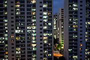 High rise buildings in the city of Daegu.