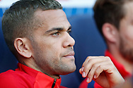 Paris Saint Germain's Brazilian defender Dani Alves looks on during the French Championship Ligue 1 football match between Paris Saint-Germain and Girondins de Bordeaux on September 30, 2017 at the Parc des Princes stadium in Paris, France - Photo Benjamin Cremel / ProSportsImages / DPPI