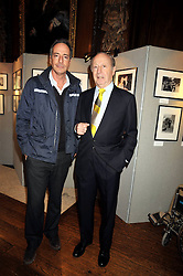 Left to right, SIMON ASTAIRE and his father EDGAR ASTAIRE at an exhibition of photographs by Edgar Astaire held at The Royal Hospital Chelsea, London on 24th April 2009.
