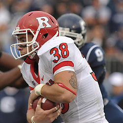 Oct 31, 2009; East Hartford, CT, USA; Rutgers running back Joe Martinek (38) rushes the football during second half Big East NCAA football action in Rutgers' 28-24 victory over Connecticut at Rentschler Field.