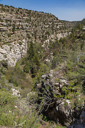 Walnu Creek as seen from the Island Trail in Walnut Canyon National Monument