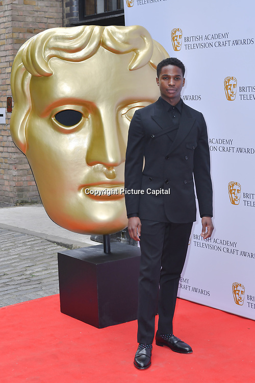 Malachi Kirby Arrivers at the British Academy Television Craft Awards on 28 April 2019, London, UK.