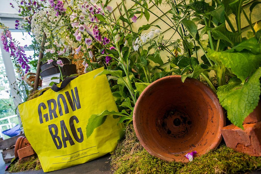 The Grow London Garden Fair opens tonight and runs until Sunday.  Hampstead heath, London, UK 19 June 2014. Guy Bell, 07771 786236, guy@gbphotos.com