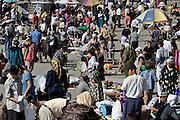 Tashkent, Uzbekistan, 12/05/2004..Chor Su market, scene of a suicide bombing 19/03/2004, when alleged Islamic Movement of Uzbekistan member Dilnosa Khalmuradova blew herself up, killing 6 people and wounding 29 others.