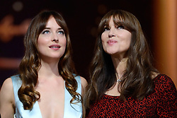 Dakota Johnson and Monica Bellucci attending the Closing Ceremony of the Marrakech International Film Festival 2018 (Festival International du Film de Marrakech) at the Palais des Congres in Marrakech, Morocco on December 08, 2018. Photo by Aurore Marechal/ABACAPRESS.COM