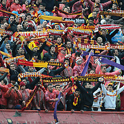 Galatasaray's supporters during their Turkish superleague soccer derby match Galatasaray between Fenerbahce at the AliSamiYen Stadium at Mecidiyekoy in Istanbul Turkey on Sunday, 28 March 2010. Photo by TURKPIX
