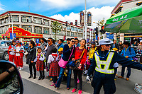 Pedestrians, Beijing East Road, Lhasa, Tibet (Xizang), China.