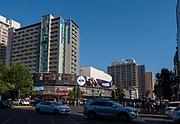 At the intersection of  Avenue Libertador Bernardo O'Higgins and Santa Rosa, Santiago, Chile.