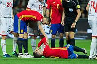 Spain's Koke Resurreccion Alvaro Morata  during the match of European qualifying round between Spain and Macedonia at Nuevo Los Carmenes Stadium in Granada, Spain. November 12, 2016. (ALTERPHOTOS/Rodrigo Jimenez)