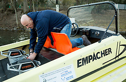Portrait of Zdenko Portic as a rowing serviceman, on March 10, 2015 in Mala Zaka, Bled, Slovenia. Photo by Vid Ponikvar / Sportida