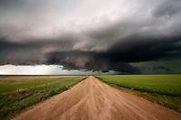 A wallcloud over rural Colorado, June 11, 2010.