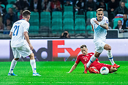 Tomasz Kędziora of Poland and Jure Balkovec of Slovenia during the 2020 UEFA European Championships group G qualifying match between Slovenia and Poland at SRC Stozice on September 6, 2019 in Ljubljana, Slovenia. Photo by Grega Valancic / Sportida