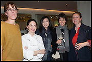 ANNA HANSEN; ELENA ARZAK; ,; LANSHU CHEN; HELENA RIZZO; ANGELA HARTNETT,  Veuve Clicquot World's Best Female chef champagne tea party. Halkin Hotel. Halkin St. London SW1. 28 April 2014.