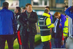 Morton's manager David Hopkin after a late Morton miss. Morton 1 v 1 Brora Rangers, 3rd Round of the Scottish Cup played 23/11/2019 at Cappielow, Greenock.