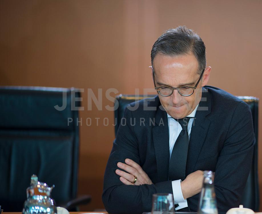 DEU, Deutschland, Germany, Berlin, 15.05.2019: Bundesaussenminister Heiko Maas (SPD) vor Beginn der 52. Kabinettsitzung im Bundeskanzleramt.