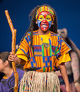 Crespo Elementary School students perform scenes from The Lion King during the New Teacher Academy held at the Kingdom Builders Center, July 31, 2014.