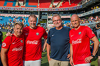 """Fotball , 9. juni 2018 , Omkampen<br /> Norge - Brasil<br /> Trygve Kase, Norge<br /> Kjetil Rekdal, Norge<br /> Jahn Ivar """"mini"""" Jacobsen, Norge<br /> Ståle Solbakken, Norge<br /> Foto: Christoffer Hansen , Digitalsport"""