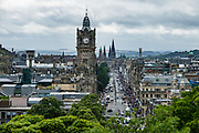 Princes Street: Balmoral Hotel. Edinburgh is the capital city of Scotland, in Lothian on the Firth of Forth's southern shore, Scotland, United Kingdom, Europe.