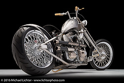 Morongo Casino's Sailor Jerry inspired chopper built from a 2010 Harley-Davidson Twin Cam by Paul Yaffe's Bagger Nation in Phoenix, AZ. Photographed by Michael Lichter in Boulder, CO on May 20, 2016. ©2016 Michael Lichter.