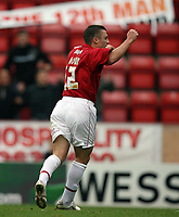 Photo: Rich Eaton.<br /> <br /> Bristol City v Crewe Alexander. Coca Cola League 1. 14/10/2006. Scott Brown of Bristol City celebrates after scoring his sides second goal