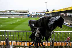 General View of TV cameras at the Memorial Stadium - Rogan/JMP - 30/11/2020 - FOOTBALL - Memorial Stadium - Bristol, England - Bristol Rovers v Darlington - FA Cup Second Round Proper.