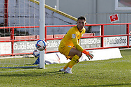 1-1, GOAL scored by Joe Pritchard of Accrington Stanley (not pictured)  during the EFL Sky Bet League 1 match between Accrington Stanley and Rochdale at the Fraser Eagle Stadium, Accrington, England on 10 October 2020.