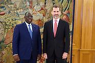 121514 King Felipe VI attends an audience with Senegalese President Macky Sall
