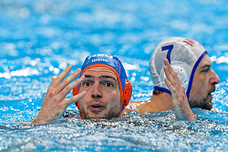 Lars Gottemaker #7 of Netherlands during Netherlands vs Malta on LEN European Aquatics Waterpolo January 21, 2020 in Duna Arena in Budapest, Hungary