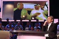 Fotball<br /> Foto: imago/Digitalsport<br /> NORWAY ONLY<br /> <br /> WOLFGANG NIERSBACH  zur Vergabe der FIFA WM nach Qatar 2022; auf der Leinwand Sepp Blatter und Mohammed Bin Hammam, wegen Korruption lebenslang von der FIFA gesperrt<br /> 29.03.2014