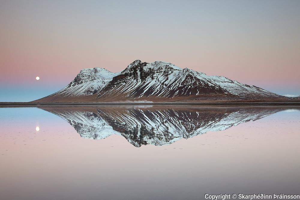 Mountain Bjarnarhafnarfjall in Snæfellsnes, west Iceland