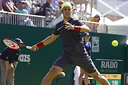 Lukas Lacko (SVK) Wins the Nature Valley International at Devonshire Park, Eastbourne, United Kingdom on 30th June 2018. Picture by Jonathan Dunville.