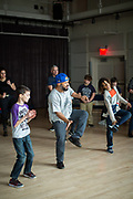 Brooklyn, NY - April 13, 2019: Get Up Stand Up! Workshop led by Jashua Sa-Ra and Concert performance by Brown Rice Family at BAM Fisher in Fort Greene.<br /> <br /> Photo by Clay Williams for BAM Kids.<br /> <br /> © Clay Williams / http://claywilliamsphoto.com