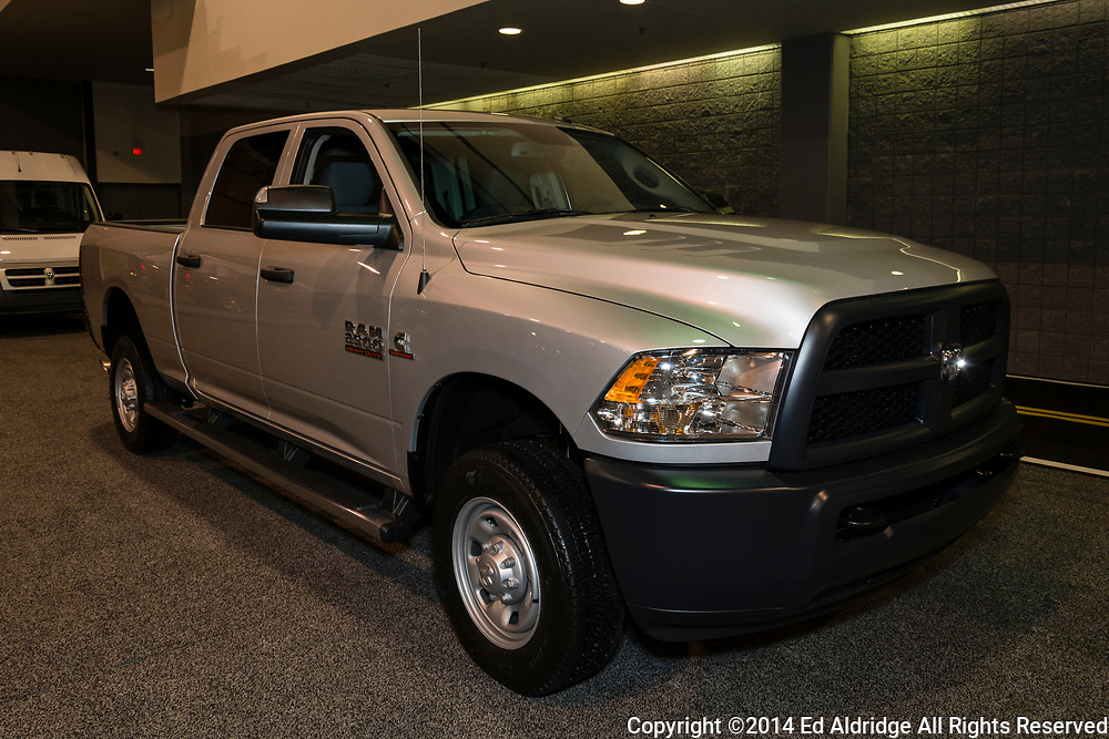 CHARLOTTE, NORTH CAROLINA - NOVEMBER 20, 2014: RAM 2500 on display during the 2014 Charlotte International Auto Show at the Charlotte Convention Center.