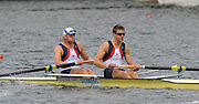 Lucerne, SWITZERLAND, GBR M2- Bow Andy TRIGGS-HODGE and Peter REED,  move away from the start, of the third round of the  2009 FISA World Cup,  on the Rottsee regatta Course, Friday  10/07/2009 [Mandatory Credit Peter Spurrier/ Intersport Images]