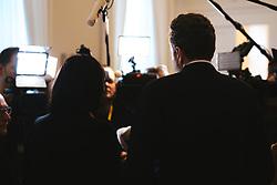11.03.2020, Bundeskanzleramt, Wien, AUT, Bundesregierung, Pressestatements vor Sitzung des Ministerrats, im Bild v. l. Elisabeth Koestinger (OeVP), Harald Mahrer (WKOe)// during media briefing before cabinet meeting at the federal chancellery in Vienna, Austria on 2020/03/11. EXPA Pictures © 2020, PhotoCredit: EXPA/ Florian Schroetter