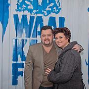 NLD/Tiel/20110207 - Persconferentie Frans Duijts concert bij de Waalkade, Frans Duijts met zijn partner Marloes Overgaauw
